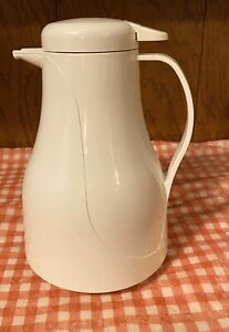 Rubbermaid 1 Quart Coffee Warmer Thermal Carafe Pitcher - White #7353
