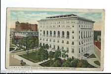 Poistcard YMCA Telephone Building & Detroiy Athletic Club, Detroit, Mich. 1920's