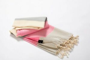 100% Turkish Cotton Soft Bath Towel Pink | Quick Dry Beach Towel Absorbent