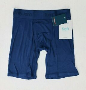 """NEW Mens Tommy John Second Skin Boxer Brief~SMALL 28-30""""~Blue"""