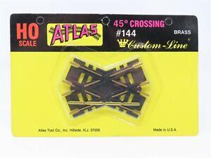 HO Scale Atlas #144 Custom Line 45 Degree Brass Crossing Track - Sealed