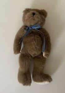 Vintage 1985  BOYDS COLLECTION - Stuffed Plush Brown TEDDY BEAR With Bow