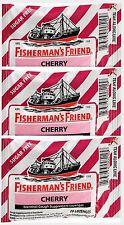 Fisherman's Friend CHERRY Menthol Cough Lozenges 20 ct bags (3 pack)***
