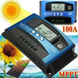 100A 12V-24V MPPT Solar Ladegerät Controller Panel Regler Daul USB Digital 【DHL】