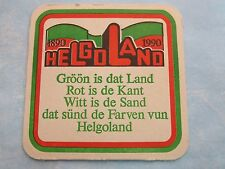 BEER Coaster ~*~ Brauerei HOLSTEN ~*~ Hamburg, GERMANY ~*~ Helgoland Archipelago