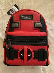 Loungefly Deadpool Marvel Mini Backpack New With Tags Heart Logo