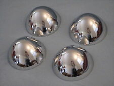 Set of 4 CHROME BULLETS for HUBCAPS CENTER CAPS Custom Rat Rod