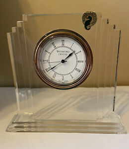 Waterford Lead Crystal Small Metropolitan Quartz Clock with original box and bag