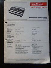 Original Service Manual  Nordmende Hifi Comfort Stereo Recorder