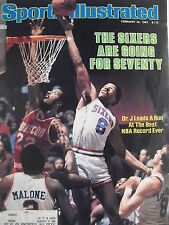DR. J  JULIUS IRVING  SIXERS GO FOR SEVENTY February 28, 1983 Sports Illustrated