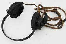 WWII NAVEL AIR FORCE Radio Headphone Headset - FREE Shipping [PL3633]