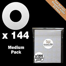 144 x White paper hang tag ring/round hole reinforcement stickers/labels