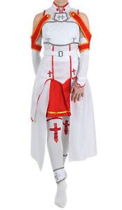 Sword Art Online SAO Cosplay Kostüm Costume Kleid von Asuna Yuuki Damen