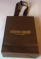 Authentic Roberto Cavalli Brown Paper Gift Bag