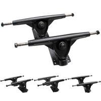 Skate Trucks Pair Hardware Riser Pads Set Skateboard Longboard 7 Inch Magnesium