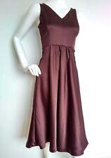 Designer JAEGER satin evening dress size 8 --USED ONCE-- below knee length