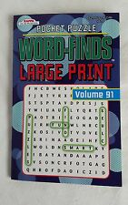 NEW Kappa Pocket Puzzle Large Print Word-Finds Search Volume 91