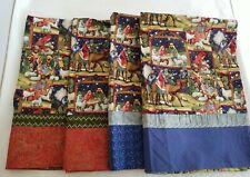 Christmas Nativity Handmade Standard Pillowcases Lot of 4