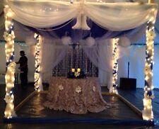 "NEW  WHITE  ARCH   Chiffon  Wedding Decoration SWAG 54"" wide x 218"" long"