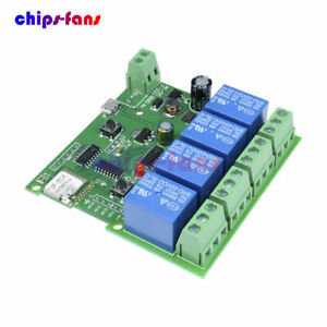 4 Channel DC 5V 7-32V WiFi Wireless Relay Delay Switch Control Module With APP L