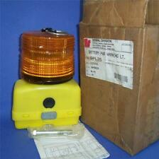 SIGNAL DIVISION 12VDC, AMBER COLOR, BATTERY POWERED WARNING LIGHT BPL26 *NEW*