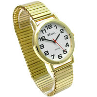 Men's Quartz Watch by Ravel with Expanding Bracelet Goldtone 03