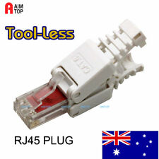4-Piece Tool-less RJ45 Connector CAT 6 for Network Cable- Tool-Free, Reusable