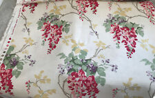 Laura Ashley Wisteria Cranberry Fabric / Material x 3.1 Metres - NEW