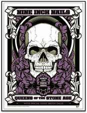 Queens Of The Stone Age NIN 3/11/2014 Poster Perth Aus Signed & Numbered #/250