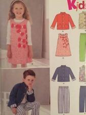 New Look Sewing Pattern 6257 Girls Boys Childrens Dress Pants Jacket Size 3-8 UC