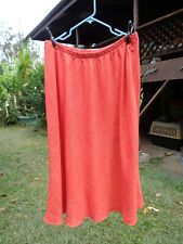 FLAX 2G Koi Raw Linen All Around Gatsby Splaying Skirt 2012 Ltd Too orange
