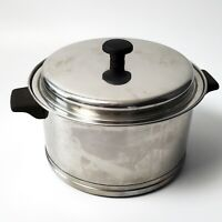 Vintage LIFETIME 18-8 R6 Stainless Steel 6 Quart Stock Pot w/ Lid USA Cookware