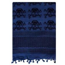 """Dark Blue Skulls Tactical Shemagh/Scarf - Superb Head & Neck Protection/43"""" x 41"""