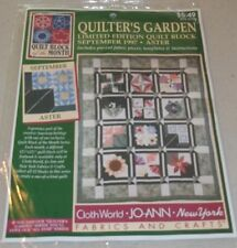 JoAnn Fabrics Quilt Block of the Month - 1997 Quilter's Garden September Aster