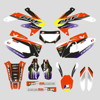 Customized Full Graphic Decals Kit Sticker For HONDA CRF450X 2005-2007 Motocross