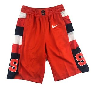Nike Syracuse Orange authentic dri fit basketball shorts mens Size Small New