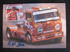 Card Heinz-Werner Lenz (GER) Mercedes FIA Truck Cup 1999 (MBC) signed
