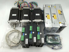 Nema34 3Axis CNC Router Stepper Motor Driver Kit 6.5N.m L98mm&Supply&5Axis Board