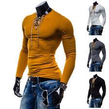 Unbranded V Neck Stretch T-Shirts for Men