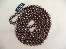 "Erwin Pearl Fashion Necklace Copper Glass Pearls 60""L NOS"