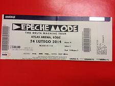 DEPECHE MODE - Ticket 24.02.2014 THE DELTA MACHINE TOUR - ATLAS ARENA ŁÓDŹ