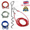 Pet Dog 6ft Garden Tie Out Lead Wire Cable and Spiral Ground Stake Spike 3 color