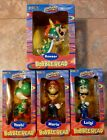 2002+Toysite+Nintendo+Collectibles+BOBBLEHEAD+Set+Mario+Yoshi+Bowser+Luigi+%28NEW%29