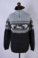 Ladies Bogner Classic Zip Neck Classic Wool Jumper Size M