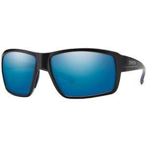 Smith FIRESIDE 0003 Z0 Matte Black/ Blue Mirror Lens Sunglasses New