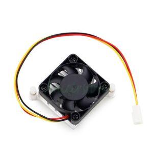 5pcs Aluminium Heatsink Cooler Fin w/ 40mm Fan For Northbridge Chipset Silver