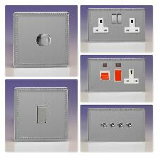 Varilight Screwless Jubilee Brushed Steel Light Switch Socket Dimmer Toggle