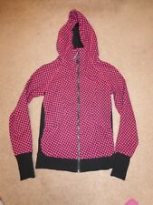 Lululemon women's pink/black print full-zip hoodie workout jacket Sz 6 (S)