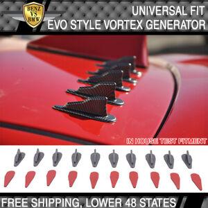 Universal Spoiler Air Vortex Generator Diffuser VG EVO Style 10Pc CFL PP