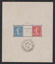 "FRANCE BLOC FEUILLET 2 a "" STRASBOURG 1927 "" NEUF xx AVEC CACHET EXPOSITION M835"